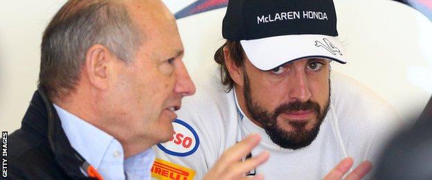 Ron Dennis and Fernando Alonso