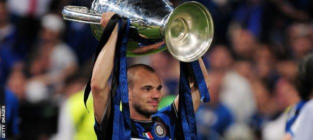 Wesley Sneijder lifted the Champions League under Jose Mourinho at Inter Milan in 2010