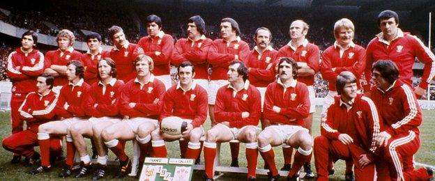 Wales team that played France in the 1977 Five Nations Championship