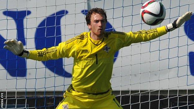 NI keeper Conor Brennan was in fine form against France