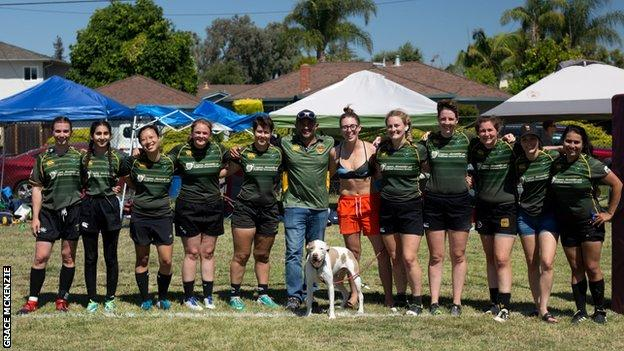 Golden Gate Women's rugby club in San Francisco