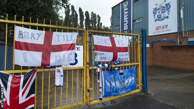 Gates at Gigg Lane