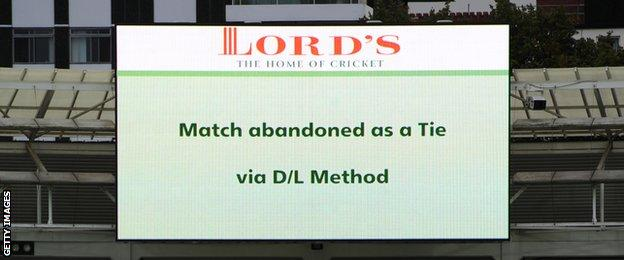 A scoreboard at Lord's