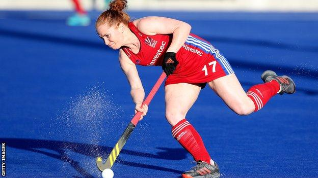Sarah Jones made her GB debut during the 2018 Champions Trophy