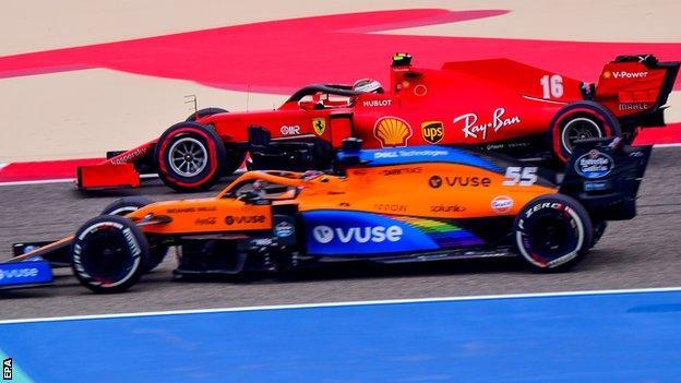 Ferrari and McLaren test the Pirelli 2021 tyre design in Bahrain