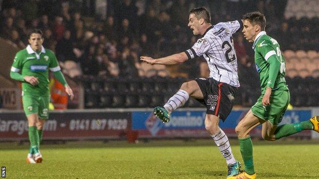 Stephen McGinn fires home St Mirren's equaliser