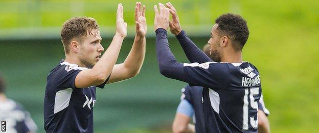 Dundee forwards Greg Stewart and Kane Hemmings