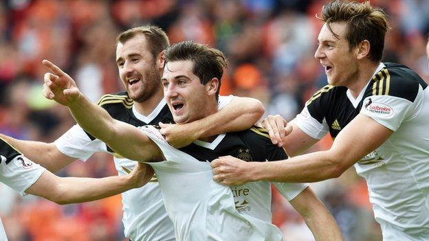 Kenny McLean scored his third goal of the season for Aberdeen