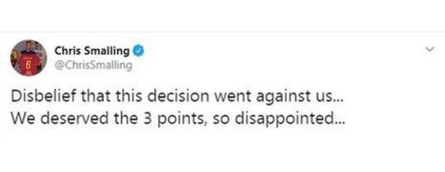 Chris Smalling tweet