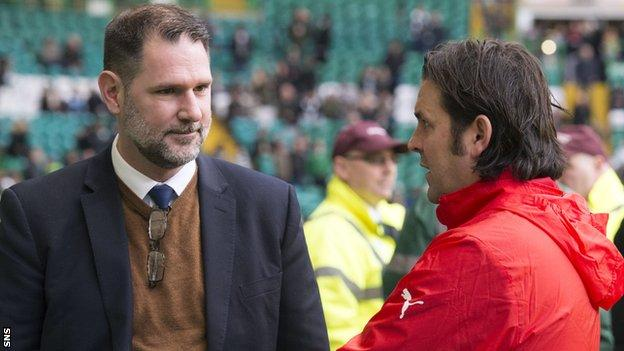 Dundee managing director John Nelms and Paul Hartley