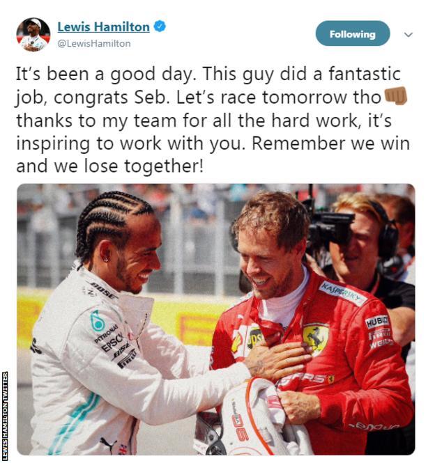 Lewis Hamilton Twitter