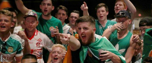 Irish fans in Las Vegas before one of his right recent fights