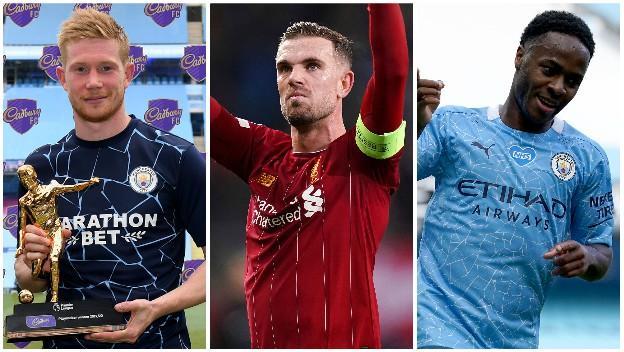 Kevin de Bruyne (Man City), Jordan Henderson (Liverpool), Raheem Sterling (Man City)