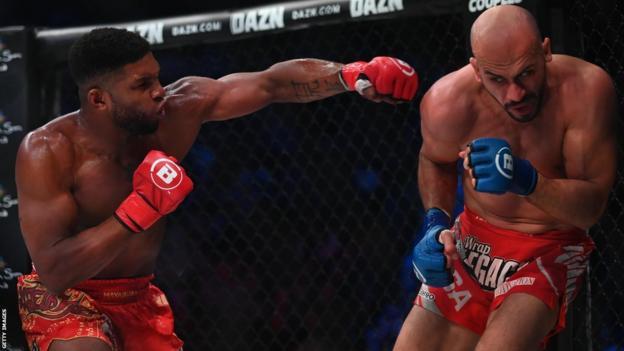 Paul Daley fighting Saad Awad