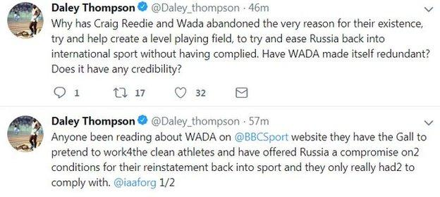 Daley Thompson on Twitter