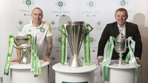 Scott Brown, Neil Lennon and Scotland's three main domestic trophies