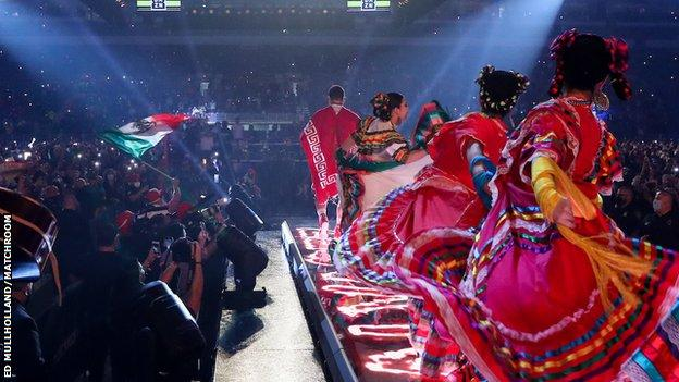 Some of the Alamodome's capacity could be used and Alvarez used a Mexican Mariachi band during his ring walk