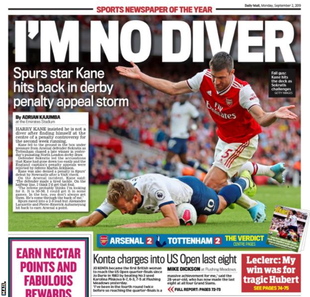 Monday's Mail back page