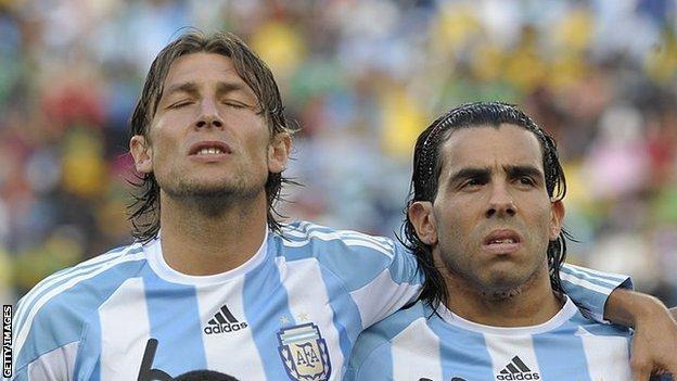 Gabriel Heinze and Carlos Tevez