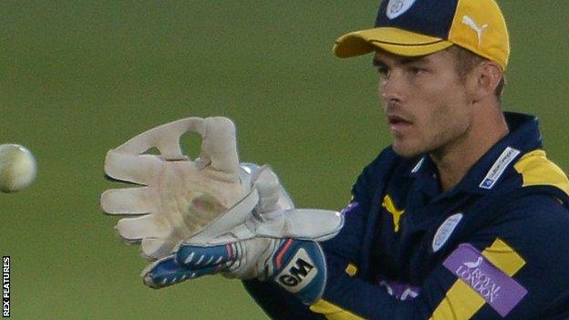 Hampshire wicket-keeper Lewis McManus