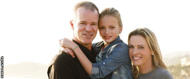 Suzy Hamilton and her family