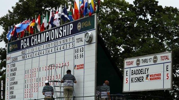 US PGA Championship leaderboard