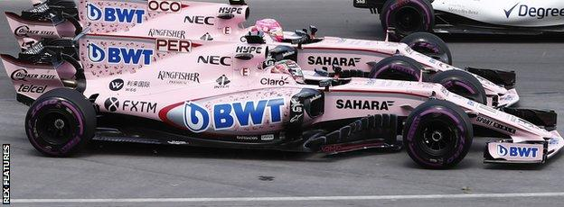 force india battle in Canada