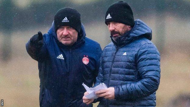 Tony Docherty and Derek McInnes at Aberdeen