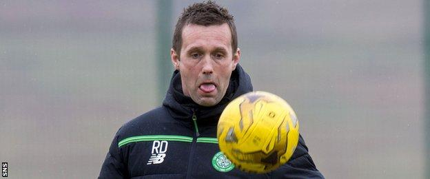 Celtic manager Ronny Deila in training