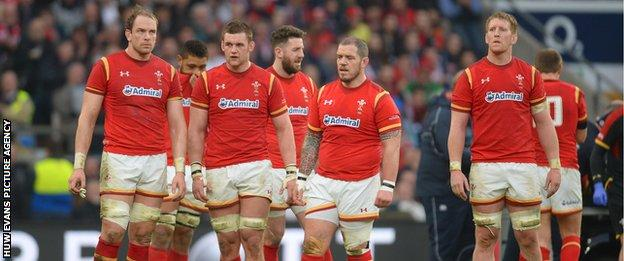 Wales players look dejected