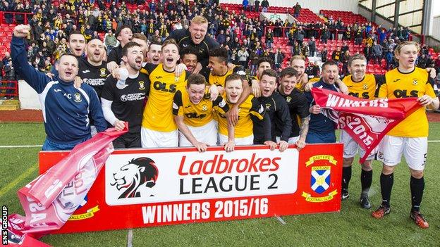 East Fife will play in League One next season