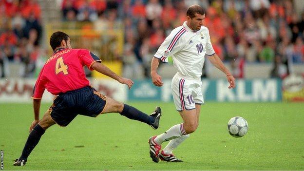 Zinedine Zidane and Pep Guardiola