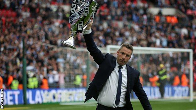 Neil Harris led Millwall to promotion via the League One play-offs in 2017 with victory over Bradford, having lost to Barnsley in the final a year earlier