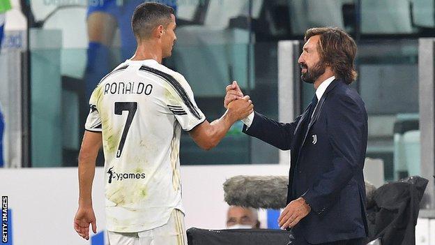 Cristiano Ronaldo and Andrea Pirlo