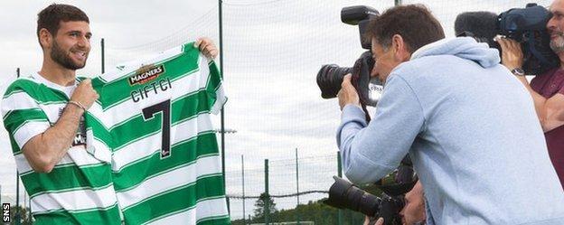 Nadir Ciftci arrives at Celtic