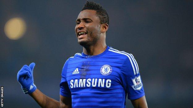 Chelsea and Nigeria's John Mikel Obi