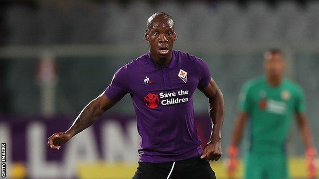 Fiorentina and Burkina Faso's Bryan Dabo