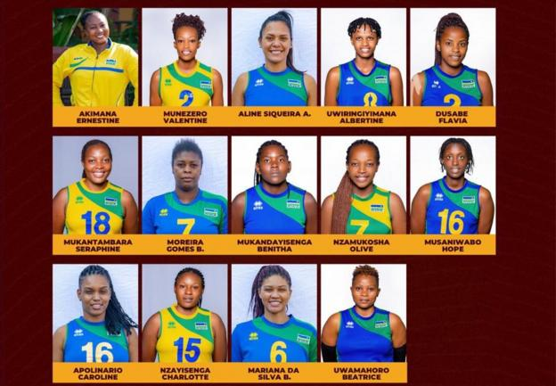 Kadra Rwandy na Mistrzostwa Afryki w siatkówce kobiet