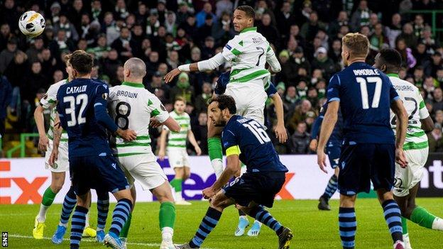 Christopher Jullien's late header downed Lazio 2-1 at Celtic Park