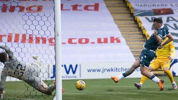 Tony Watt doubled Motherwell's lead just before the interval