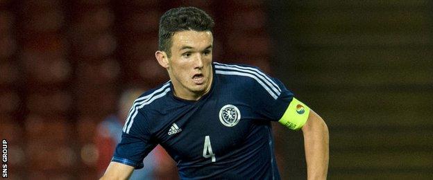 John McGinn is the captain of Scotland's Under-21 team