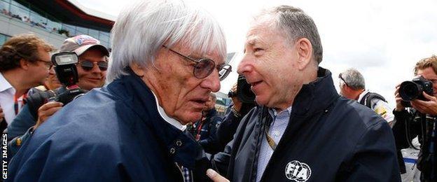F1 chief executive Bernie Ecclestone and FIA President Jean Todt