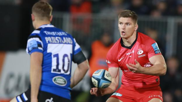 Premiership: Bath 12-25 Saracens - Owen Farrell leads champions to victory thumbnail