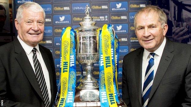 Archie Knox and Allan McRae with the Scottish Cup