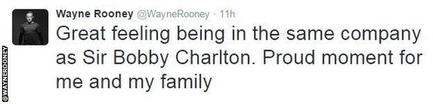 Wayne Rooney tweet