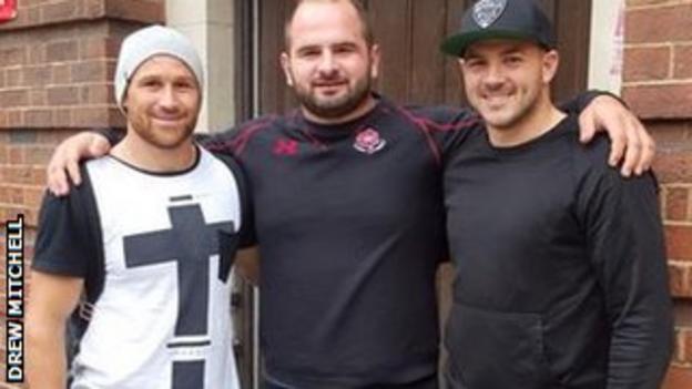 Matt Giteau, Drew Mitchell and Levan Chilachava