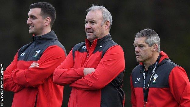 Sam Warburton (left) was part of Wayne Pivac's Wales backroom team alongside defence coach Byron Hayward (right) between November 2019 and October 2020