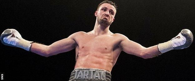 Josh Taylor in the ring