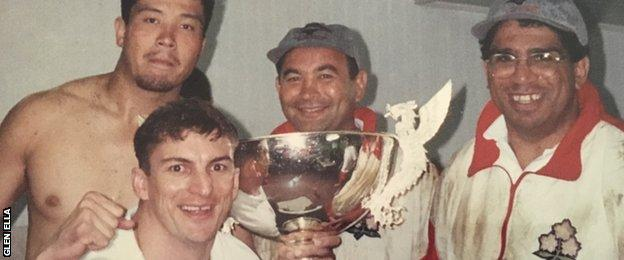 Glen Ella and Eddie Jones during the latter's first stint with Japan