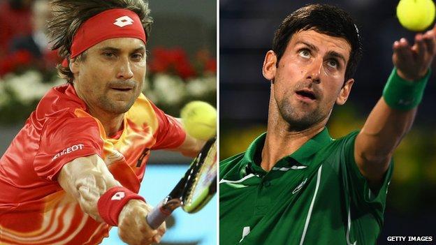 David Ferrer and Novak Djokovic